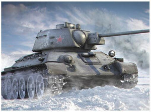 5D Diamond Painting Military Tank in the Snow Kit