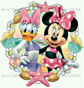 5D Diamond Painting Minnie and Daisy Beach Time Kit