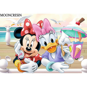 5D Diamond Painting Minnie and Daisy Summer Treats Kit