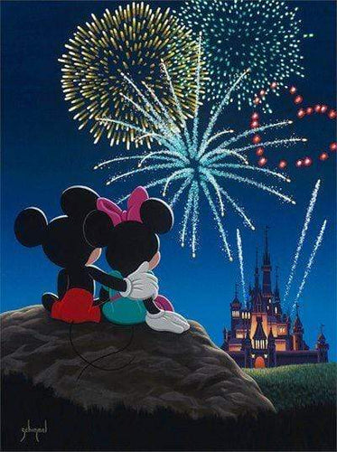 5D Diamond Painting Minnie and Mickey Watching the Fireworks Kit
