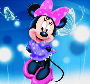 5D Diamond Painting Minnie Mouse Butterflies Kit