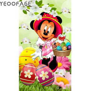 5D Diamond Painting Minnie Mouse Easter Basket Kit