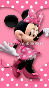 5D Diamond Painting Minnie Mouse Pink and White Polka Dots Kit