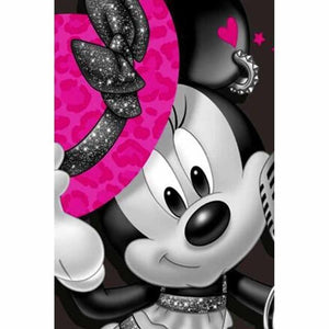 5D Diamond Painting Minnie Mouse Pink Hat Kit