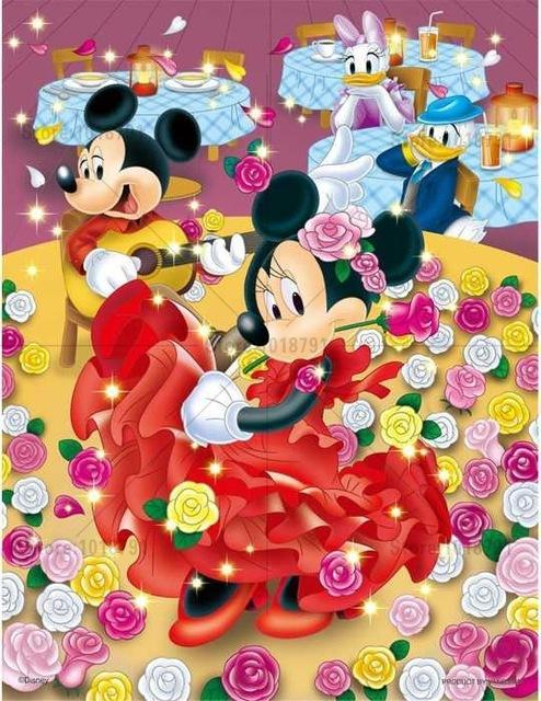 5D Diamond Painting Minnie Mouse Salsa Dancing Kit