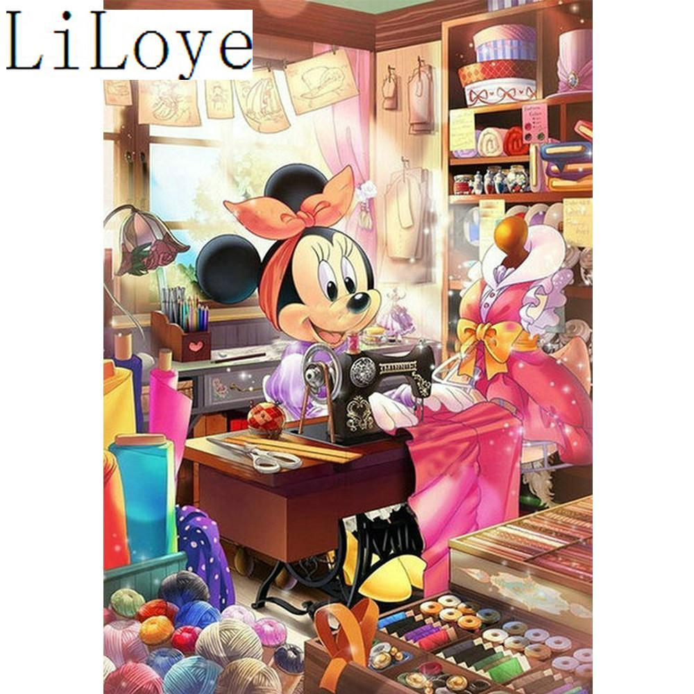 5D Diamond Painting Minnie Mouse Sewing Room Kit