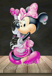5D Diamond Painting Minnie's Pink Guitar Kit