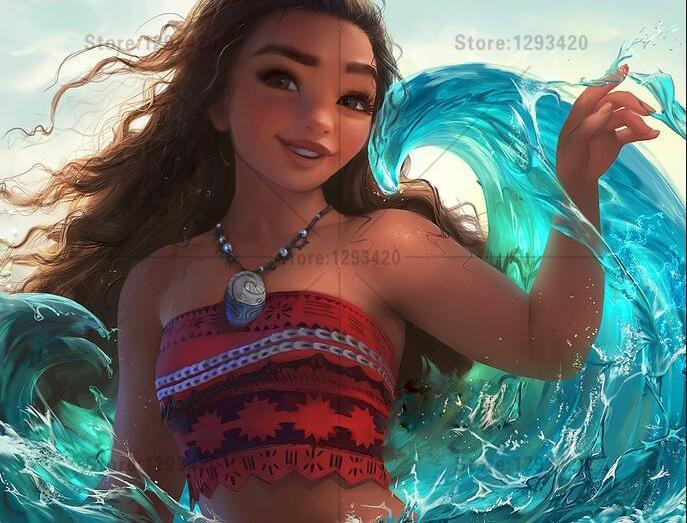 5D Diamond Painting Moana Wave Kit