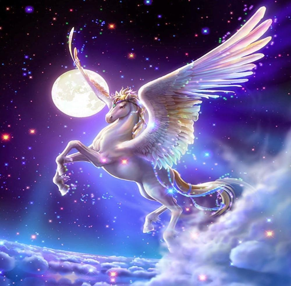 5D Diamond Painting Moonlight Pegasus Kit