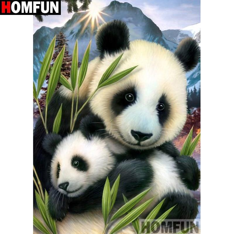 5D Diamond Painting Mother and Baby Panda Kit
