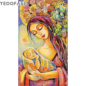 5D Diamond Painting Mother Holding Child Kit
