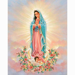 5D Diamond Painting Mother Mary Religious Kit