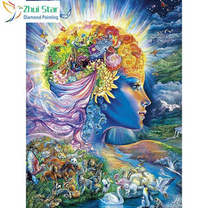 5D Diamond Painting Mother Nature Collage Kit