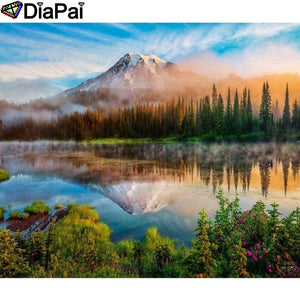 5D Diamond Painting Mountain By the Lake Kit