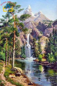 5D Diamond Painting Mountain Waterfalls Kit