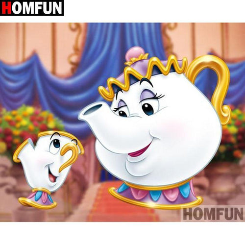 5D Diamond Painting Mrs Potts and Chip Kit