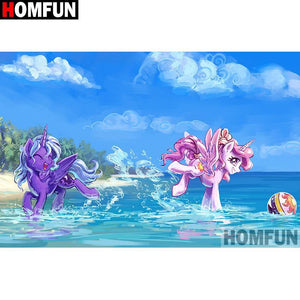5D Diamond Painting My Little Ponies in the Surf Kit