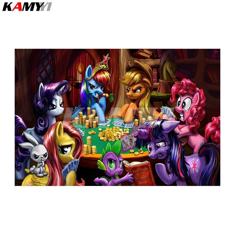 5D Diamond Painting My Little Ponies Playing Poker Kit