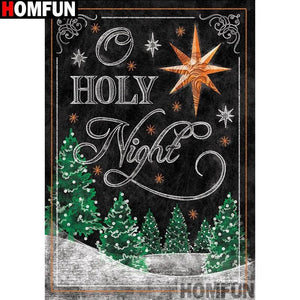 5D Diamond Painting O Holy Night Chalk Board Kit