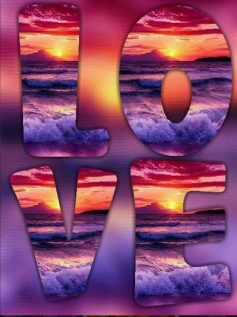 5D Diamond Painting Ocean Sunset Love Kit