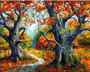 5D Diamond Painting Old Trees in Autumn