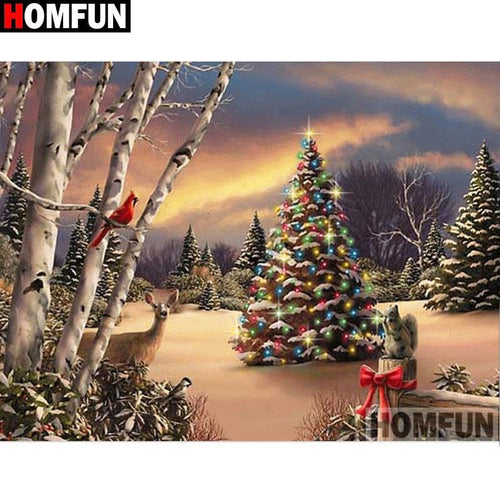 5D Diamond Painting Open Meadow Christmas Tree Kit