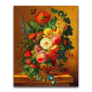 5D Diamond Painting Orange Butterfly Flowers Kit