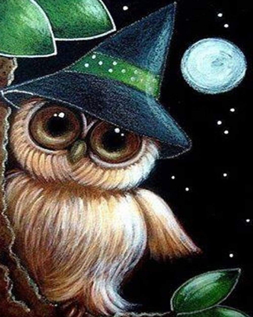 5D Diamond Painting Owl Witch Hat Kit