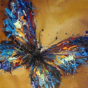 5D Diamond Painting Paint Spatter Butterfly Kit