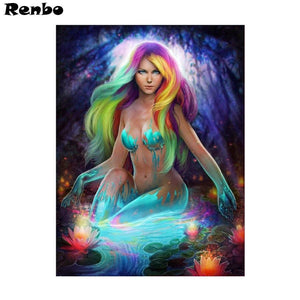 5D Diamond Painting Painted Mermaid Kit