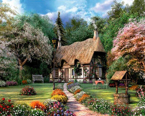 5D Diamond Painting Path to the Cottage Kit