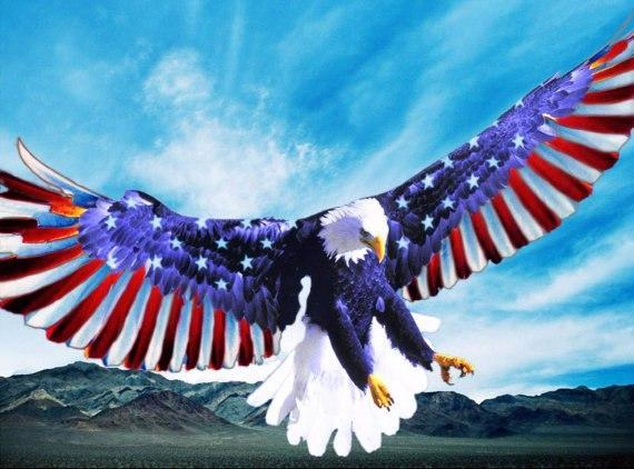 5D Diamond Painting Patriotic Eagle Wings Kit