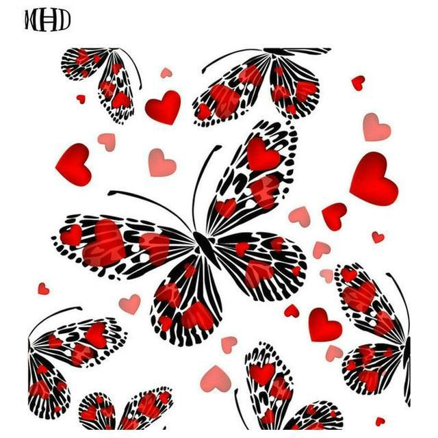 5D Diamond Painting Pattern Heart Butterfly Kit