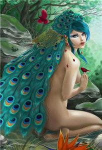 5D Diamond Painting Peacock Fairy