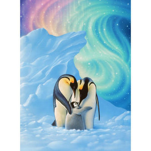5D Diamond Painting Penguin Family Kit