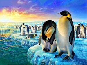 5D Diamond Painting Penguins Arctic Waterside Kit