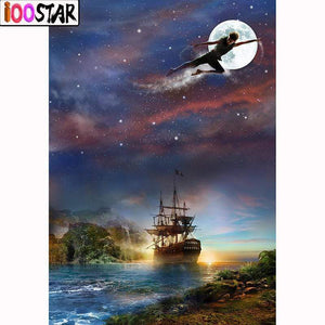 5D Diamond Painting Peter Pan and Hook's Ship Kit