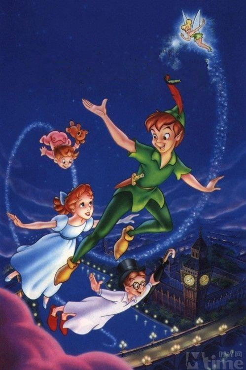 5D Diamond Painting Peter Pan Flying with Wendy Kit
