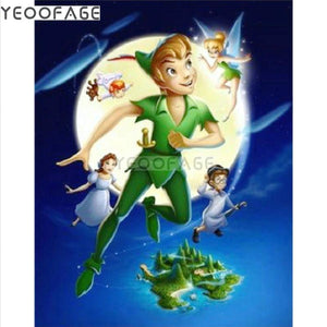 5D Diamond Painting Peter Pan Moon Kit