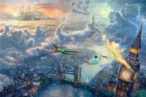 5D Diamond Painting Peter Pan Over London Kit