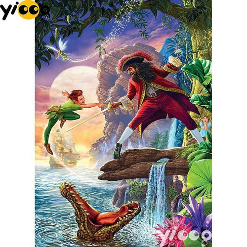 5D Diamond Painting Peter Pan Sword Fight Kit