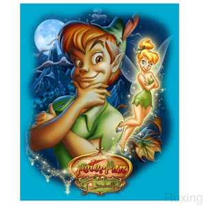 5D Diamond Painting Peter Pan & Tinkerbell Kit
