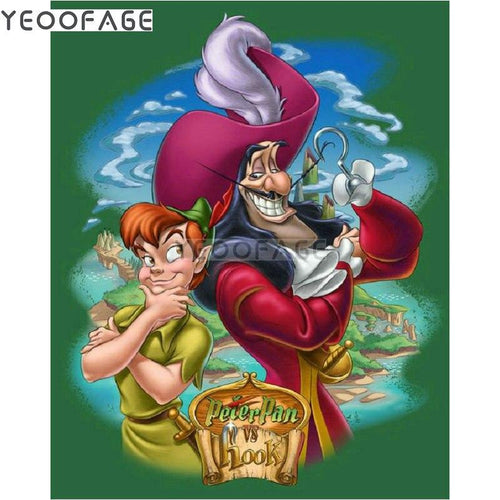 5D Diamond Painting Peter Pan vs Hook Kit
