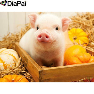 5D Diamond Painting Piglet Wood Box Kit