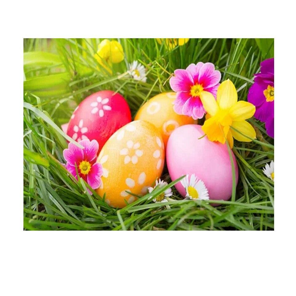 5D Diamond Painting Pink and Orange Easter Eggs Kit
