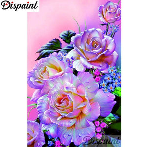 5D Diamond Painting Pink and Purple Roses Kit