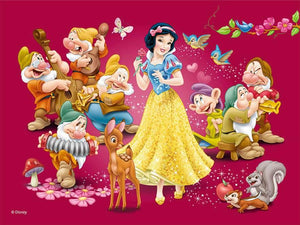 5D Diamond Painting Pink Background Snow White Kit