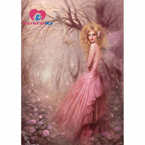 5D Diamond Painting Pink Dress Fairy Kit