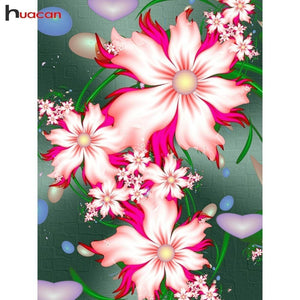 5D Diamond Painting Pink Jelly Bean Flowers Kit