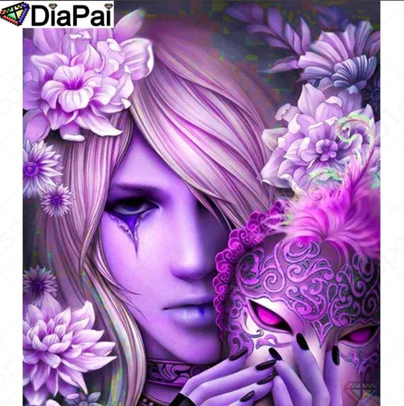 5D Diamond Painting Pink Mask Girl Kit